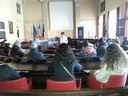 Group visiting the Municipal Council Room